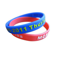Embossed Printed Logo Silicone Wristband for Promotion