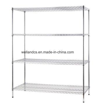 Carregamento pesado ajustável de metal cromado rack de arame rack de armazenamento
