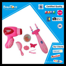 Juguetes de niña conjunto batería de juguete secador de pelo