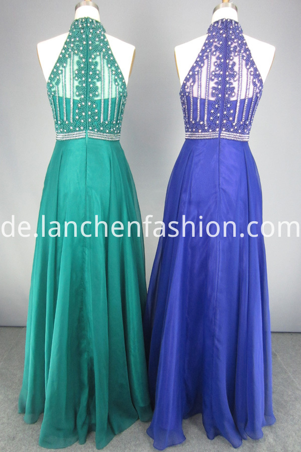 Rhinestone Floor Length Dress