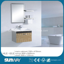 Hot Wall Hung Modern Stainless Steel Vanity with Mirror