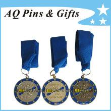 Medallas de alta calidad con cinta azul