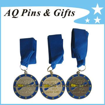 Medalhas de alta qualidade com fita azul