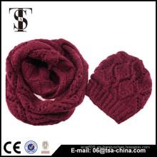 2016 Nueva bufanda caliente de la gorrita tejida y del lazo de la alta calidad del diseño
