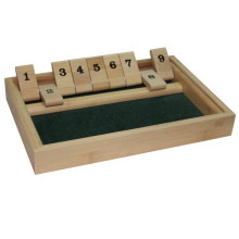 Bamboo and Wooden Popular 9 Numbers Shut the Box Game