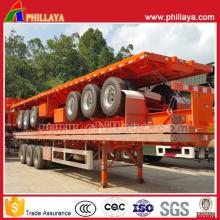 40ft contentor transporte mesa plataforma Semi caminhão reboque