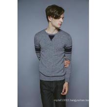 100%Cashmere Long Sleeve Round Neck Knitting Men Sweater