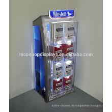 Tobacco-Marken-Speicher-Einzelverkaufs-Befestigungs-Plexiglas-Anzeigen-Kasten, geführte Handelsanzeigen-Zigarette für Verkauf