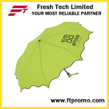 Manual Open 3-Section Folding Umbrella