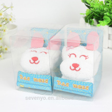 100% cotton cute rabbit high quality gift towels
