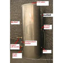 Réservoir d'eau chaude solaire