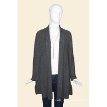 Women′s Cardigan Cashmere Sweater (17BRAW011)