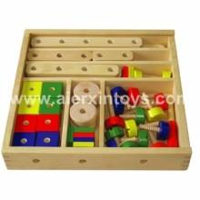 Construction en bois frais jouet en boîte (81411)