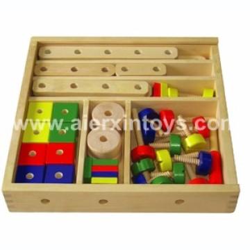Construção de madeira brinquedo de pedágio em caixa (81411)