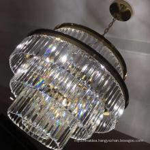 Modern Restaurant Fixture Round Drop Led Luxury Hanging Chandelier Ceiling Light