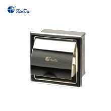 Dispensador de rolo de papel embutido para banheiro