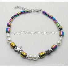 Nouveau style Rainbow Hematite bracelet de qualité supérieure