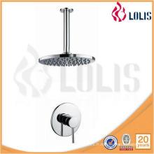 Cuisinière en laiton rond en plafonnier et bras de douche Ensemble de robinetterie de salle de bain dissimulée