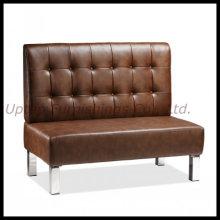 Коммерческая ресторан коричневый кожаный диван посадочных мест Будочки (СП-KS166)