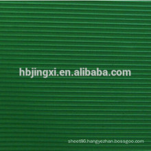 Green Fine Ribbed Rubber Mat