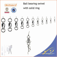 USSW011 All size fishing tackle ball bearing swivel with solid ring
