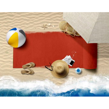 OEM Custom Print High Quality Soft Sand Free Travel Camping 100% Polyester Beach Towel Sand Outdoor Travel Swim Blanket in Stock