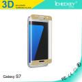 Fuente de fábrica !!! 9H 0.2mm Ultra Thin 3D Anti Blue Light Tempered Glass Protector de pantalla para Samsung S6galaxy s7 protector de borde