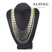 43119 Fashion Charm Multicolor Jewelry Chain Necklace in Alloy Copper