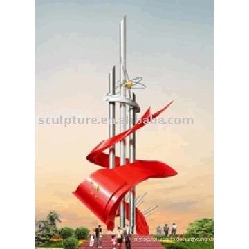 2016 Neue Qualitäts-Edelstahl-Skulptur Moderne Skulptur-Qualitäts-Art- und Weise Städtische Statue