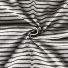 Viscose linen stripe kaos tunggal