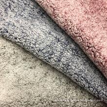 Tissu velours 100% polyester imprimé fausse fourrure