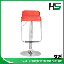 Fabricante cadeira de bar em couro PU elegante com apoio para os pés