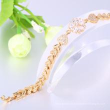 bijuteria 24k pulseira de ouro para as mulheres
