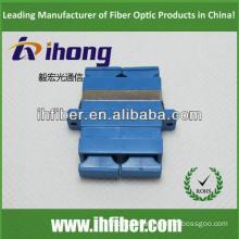 SC duplex singlemode fiber optic adapter, Blue housing