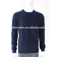 Мужчины платье классического темно-синего цвета, 100% кашемир свитера
