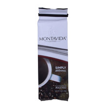OEM Custom Printed Flat Bottom Plastic Coffee Beans Packaging Bag Wholesale