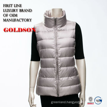 2016 Classical Ladies Soft Goose Down Vest Manufacturer In China For Canada Market