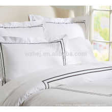 hot sell ecru stripe embroidery dovet cover set