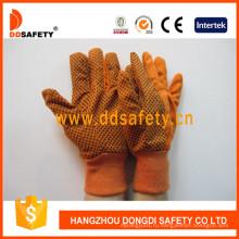 Оранжевые холсты Woking Перчатки, ПВХ точек Dcd302