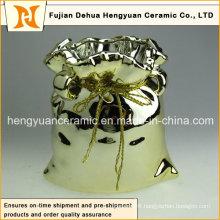 Electroplating Ceramic Big Bag Jar for Home Decoration