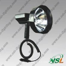 HID 35W / 55W Diámetro de la lente HID Proyector para exteriores, luz de búsqueda de caza recargable para deportes al aire libre