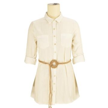 2020 на заказ скромный модельер из 100% хлопка офисное женское платье на шнуровке белое платье-футболка для женщин