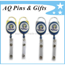 Badge Reel with Gold or Nickel Plating