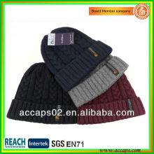 custom top quality acrylic knit beanie with your logo BN-2032