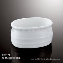 Toilettes à usage domestique Double-ligne de bassin de sucre, pot de sucre