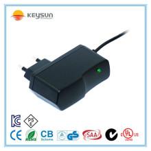 Europäischer Standardstecker Single Output 12v 1a Adapter