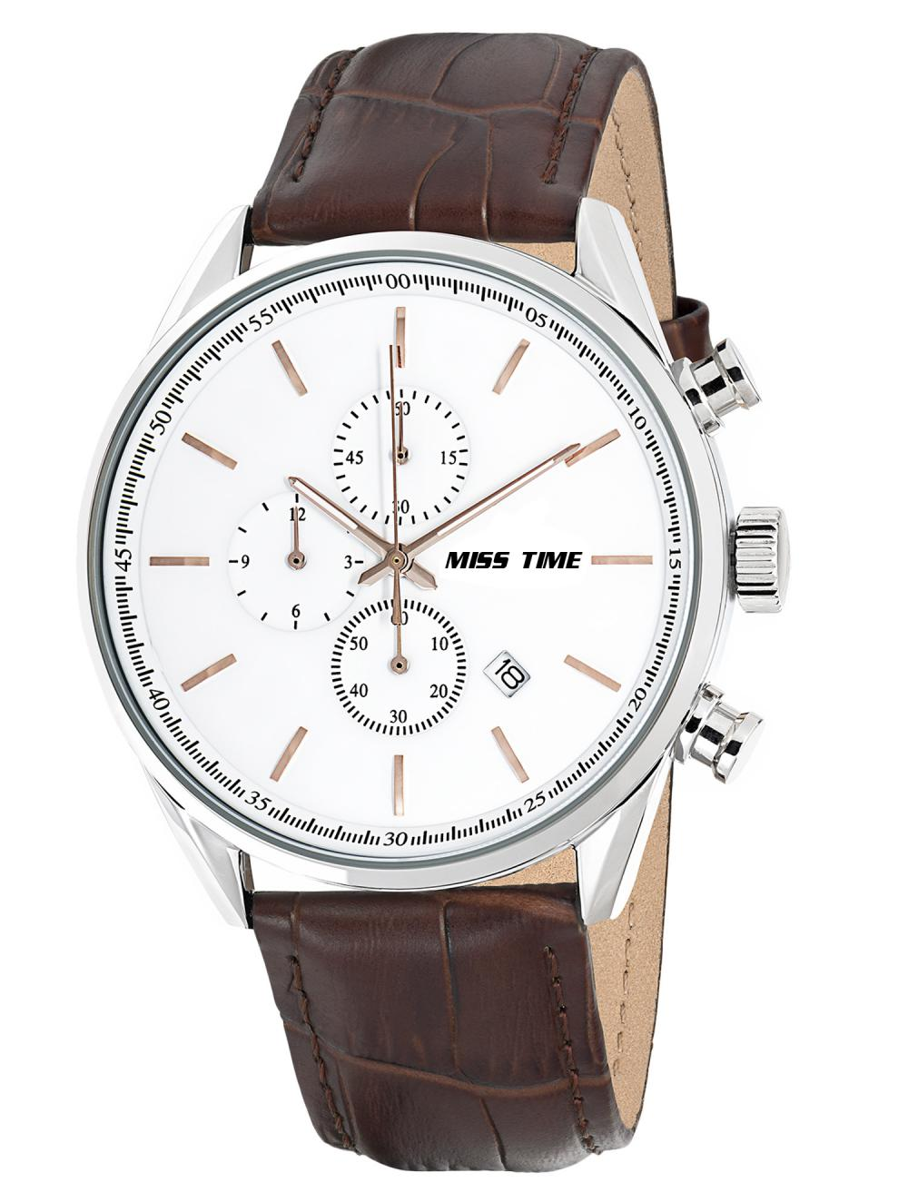 wholesale leather straps high gloss man watch