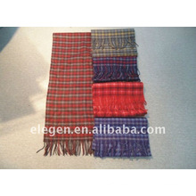 Bufanda de lana teñida de hilo