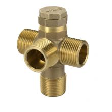 Forged brass threaded four way valves