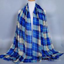 Productos en stock clásico a cuadros algodón voile modelo hijab